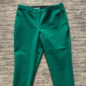 Ann Taylor Curvy Fit Ankle Pant - Green - Size 12
